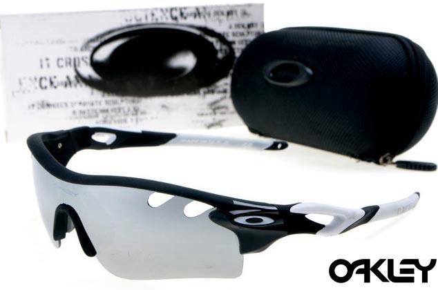 oakley radarlock path sunglasses in matte black and silver iridium for sale