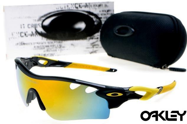 oakley radarlock path sunglasses in polished black and fire iridium