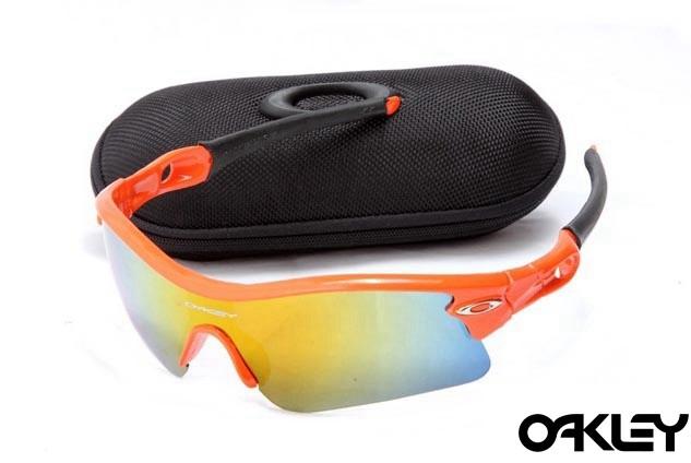 oakley radar path sunglasses in orange flare and fire iridium