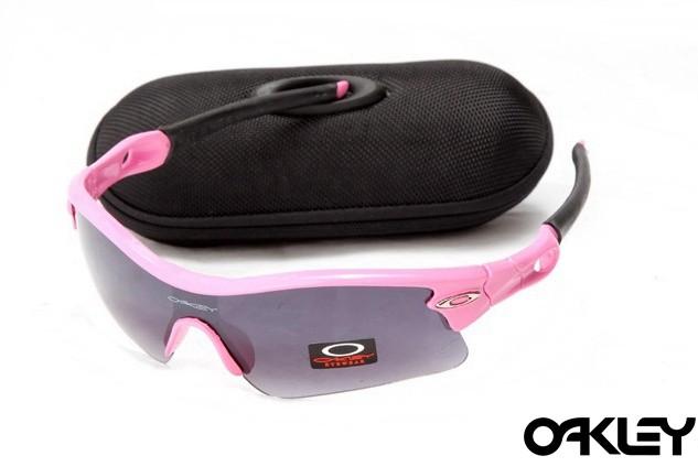oakley radar path sunglasses in neon pink and black iridium
