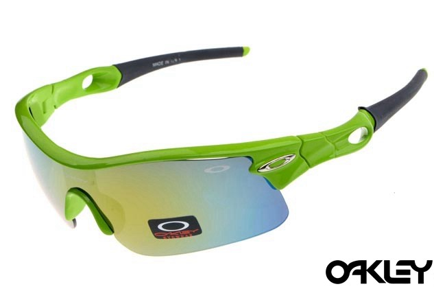 oakley radar pitch sunglasses in island green and ice iridium
