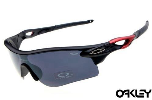 oakley radarlock sunglasses in matte black and black iridium for sale