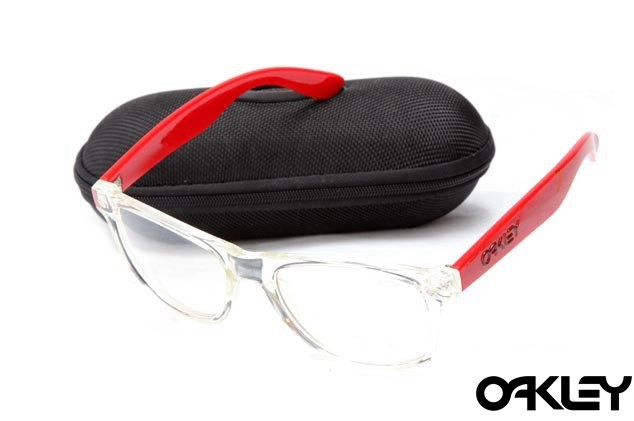 Oakley frogskins sunglasses in crystal and polished red and clear