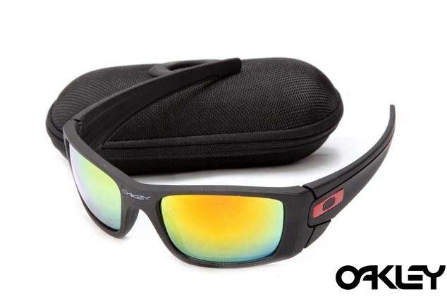 Oakley fuel cell sunglasses in matte black and fire iridium for sale