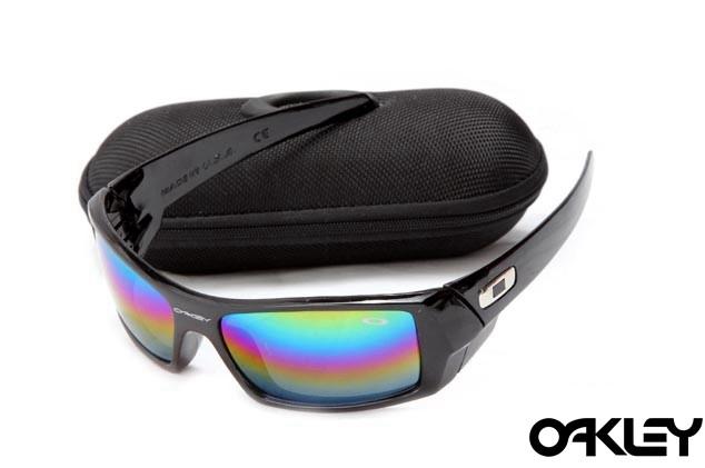 Oakley gascan sunglasses in polished black and fire iridium