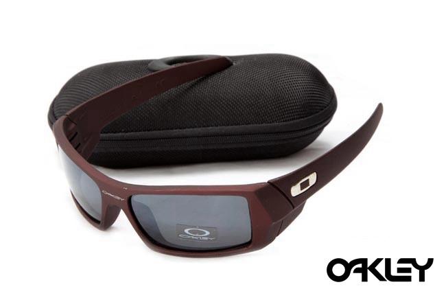 Oakley gascan sunglasses in earth brown and black iridium