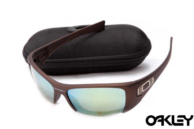Oakley hijinx sunglasses in matte rootbeer and emerald iridium