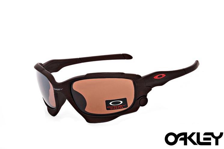 Oakley jawbone sunglasses in dark brown and VR28