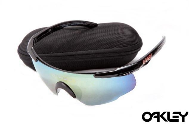 Oakley m frame sunglasses in polished black and ice iridium for usa