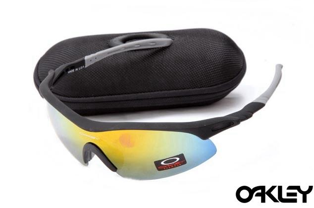 Oakley m frame sunglasses in matte black and fire black for sale