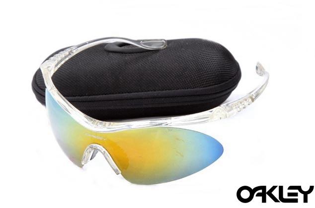 Oakley m frame sunglasses in clear and fire iridium