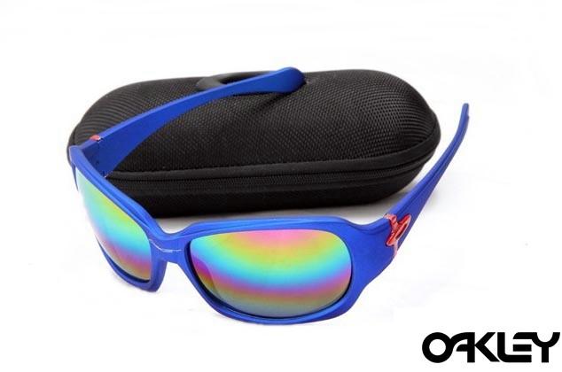 Oakley script matte blue and colorful iridium