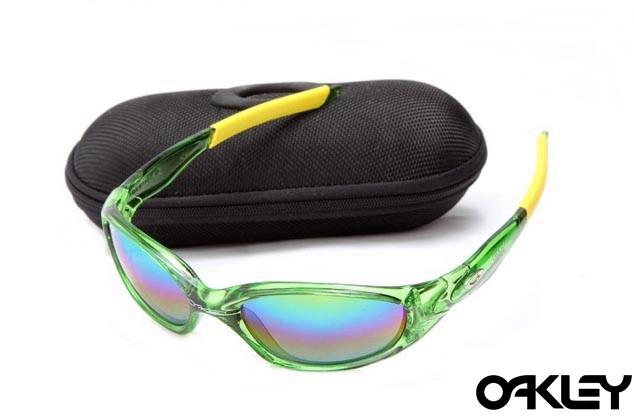 Oakley straight jacket sunglass crystal green and colorful iridium