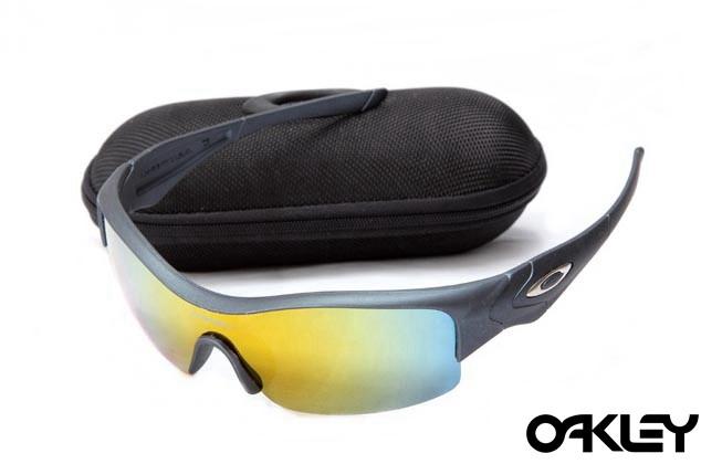 Oakley straight jacket sunglass matte black and fire iridium