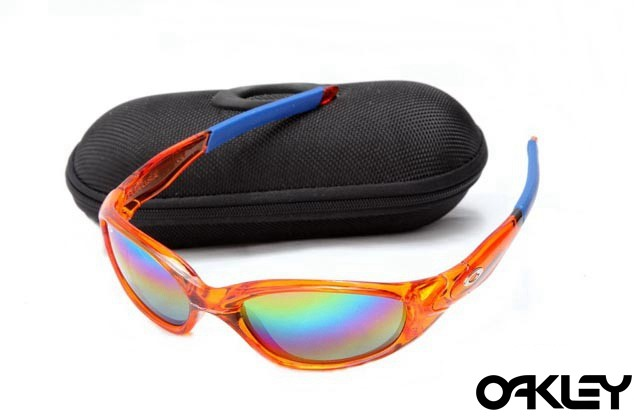 Oakley straight jacket sunglass crystal orange and colorful