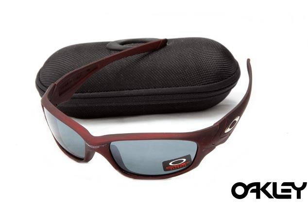 Oakley straight jacket sunglass team cardinal and grey