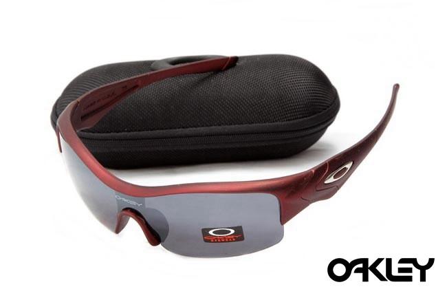 Oakley straight jacket sunglass team cardinal and dim grey