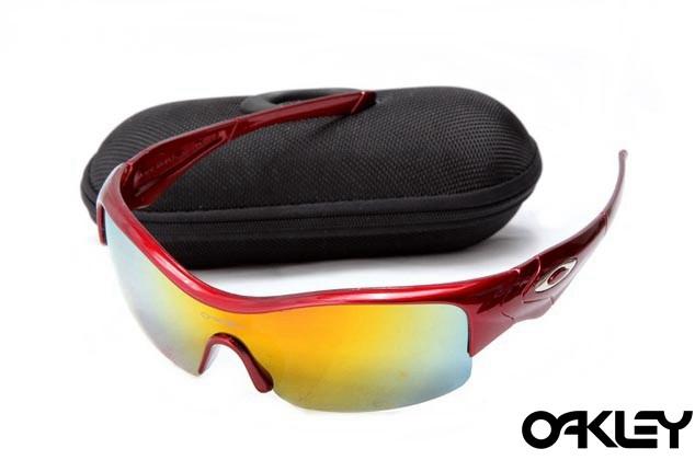 Oakley straight jacket sunglass polished red and fire iridium
