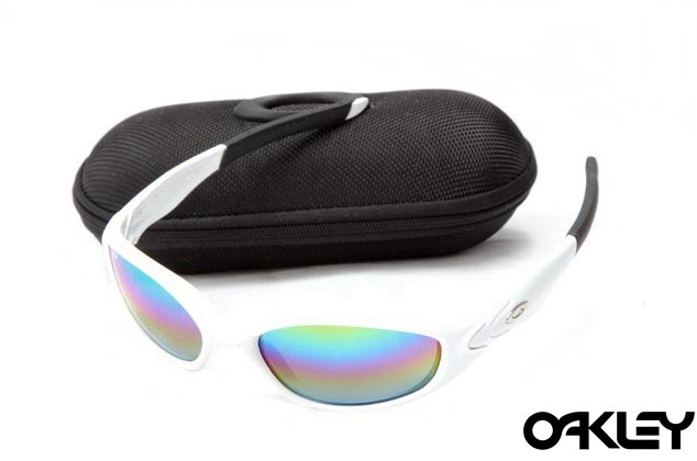 Oakley straight jacket sunglass polished white and colorful