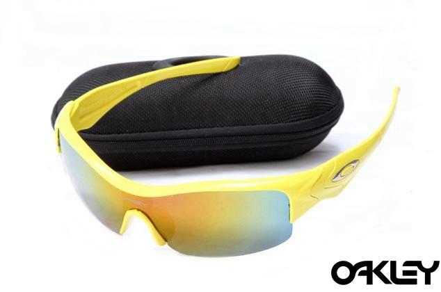 Oakley straight jacket sunglass polished lemon peel  and fire iridium