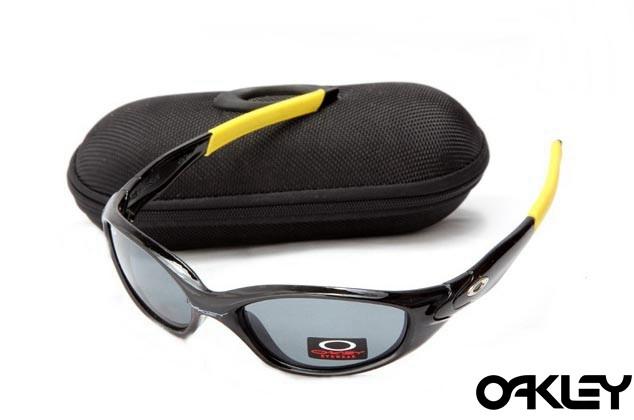 Oakley straight jacket sunglass polished black and grey