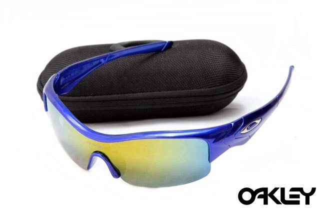 Oakley straight jacket sunglass polished blue and fire iridium