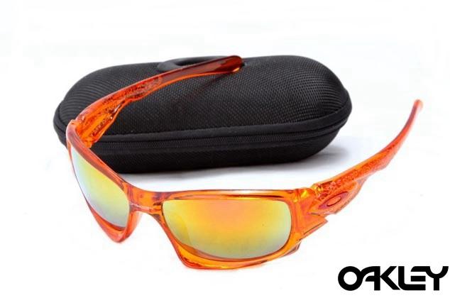Oakley ten sunglasses in team orange and fire iridium