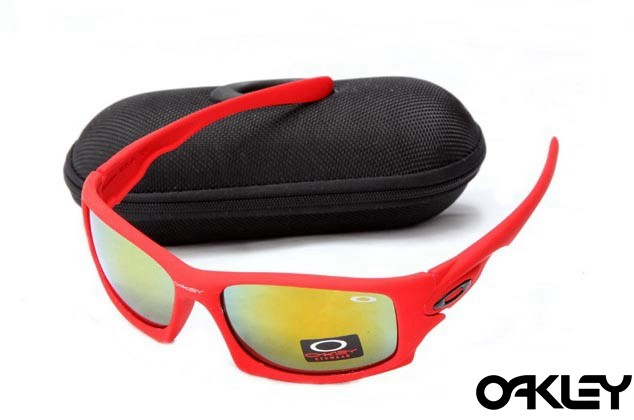 Oakley ten sunglasses in matte red and fire iridium
