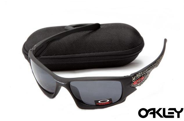 Oakley ten sunglasses in matte black and black iridium