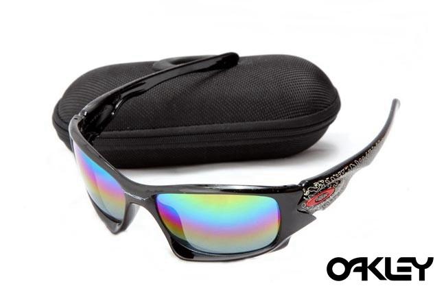 Oakley ten sunglasses in polished black and ice iridium