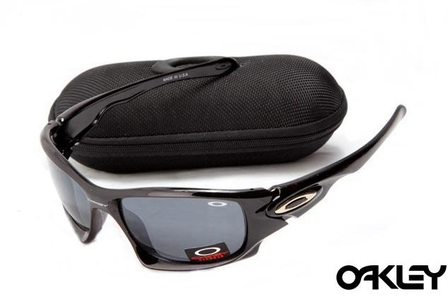 Oakley ten sunglasses in polished black and grey iridium