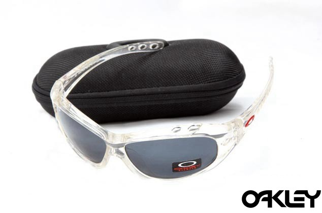 Oakley water jacket sunglasses in clear and black iridium