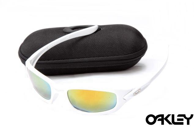Oakley xs fives matte white and fire iridium