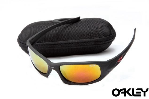 Oakley xs fives matte black and fire iridium