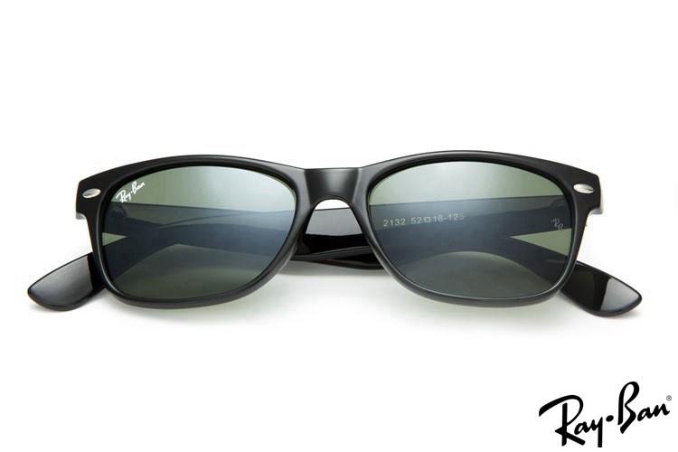 Ray Ban RB2132 Sunglasses New Wayfarer Classic Black Sunglasses