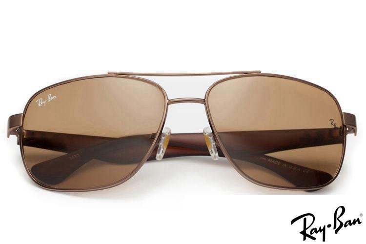 Ray Ban RB2483 Aviator Brown Sunglasses