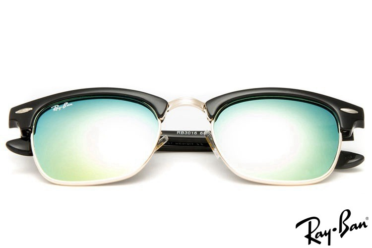 Ray Ban RB3016 Clubmaster Classic Black Sunglasses outlet