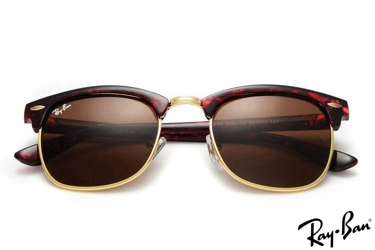 Ray Ban RB3016 Clubmaster Sunglasses Tortoise Sunglasses