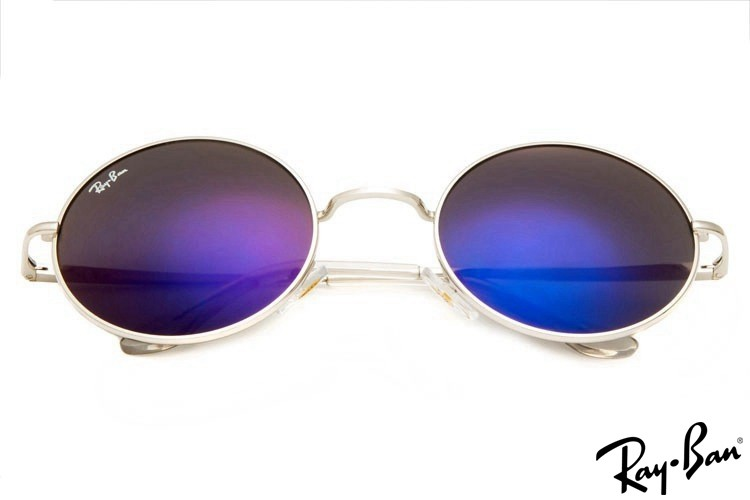 Ray Ban RB3088 Round Metal Silver Sunglasses