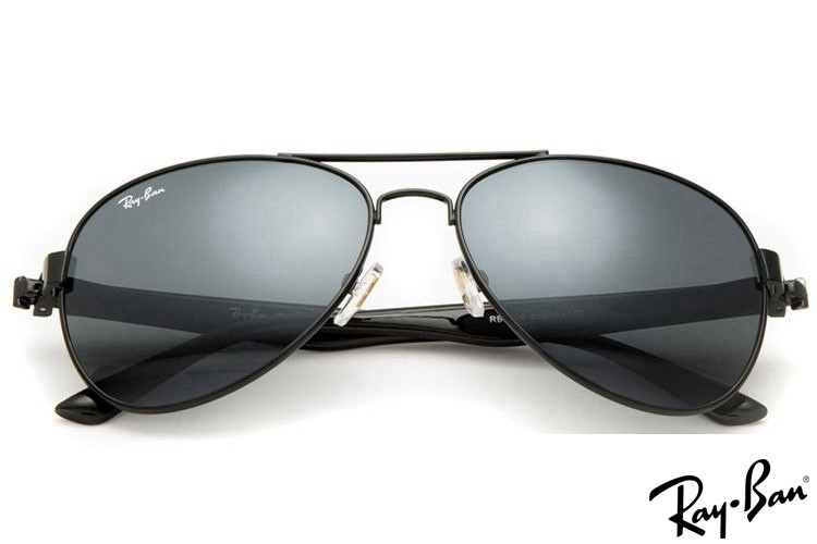 Ray Ban RB3806 Aviator Black Sunglasses