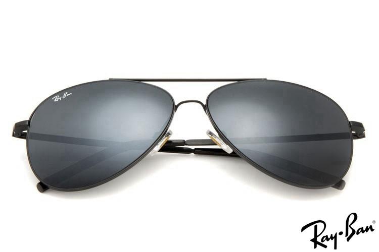 Ray Ban RB3811 Aviator Black Sunglasses