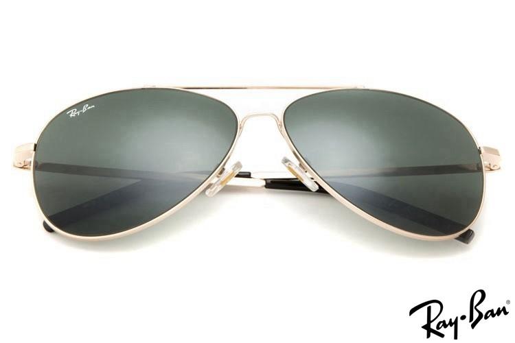 Ray Ban RB3811 Aviator Sunglasses Gold Sunglasses