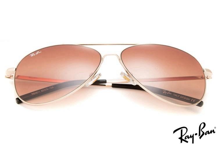 Ray Ban RB3811 Aviator Gold Sunglasses