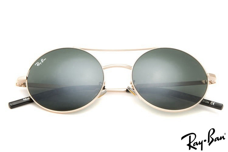Ray Ban RB3813 Round Gold Sunglasses