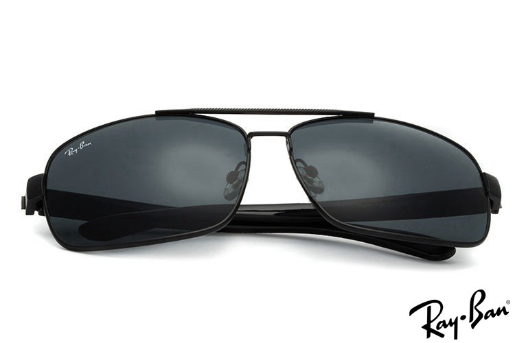 Ray Ban RB8212 Aviator Black Sunglasses