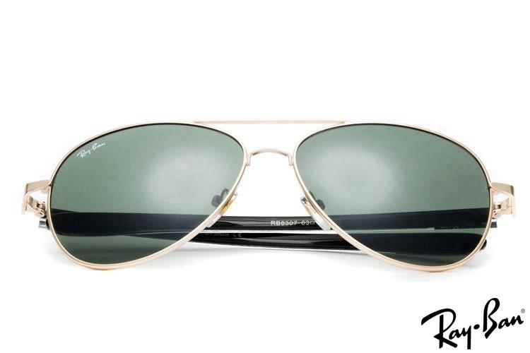 Ray Ban RB8307 Tech Carbon Fibre Gold Sunglasses