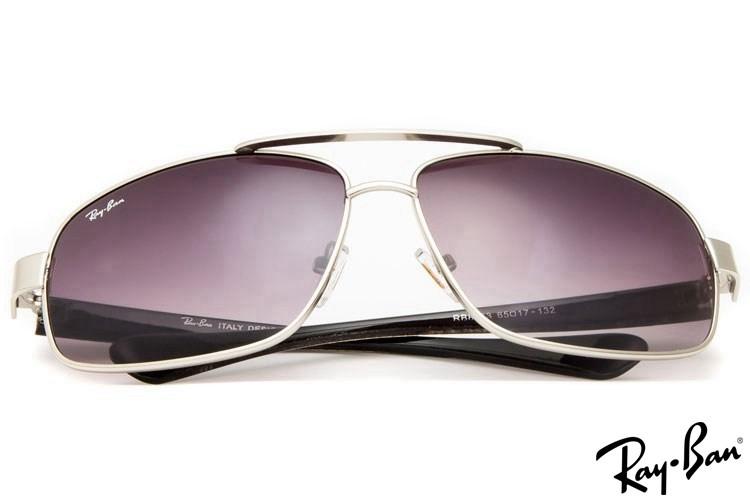 Ray Ban RB8813 Aviator Silver Sunglasses