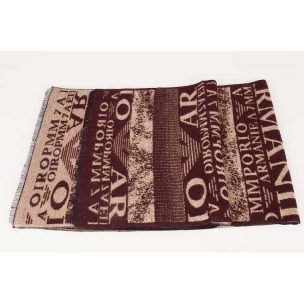Armani wool scarf brown sale