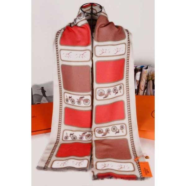 Hermes cashmere beige scarf