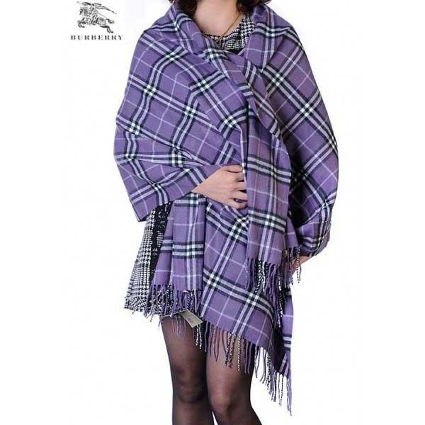 Burberry check merino wool cashmere wrap